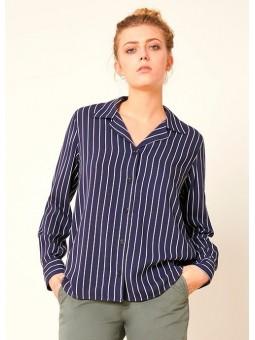 Camisa de rayas azul Reiko