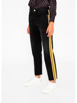 Pantalón negro raya lateral Silvian Heach