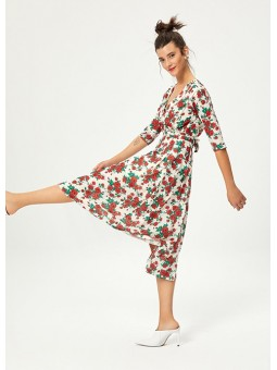 PITIMINI Vestido estampado rosas – Mioh