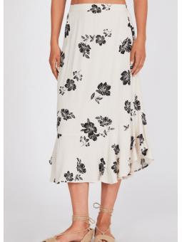Falda floral blanca y negra – Amuse Society