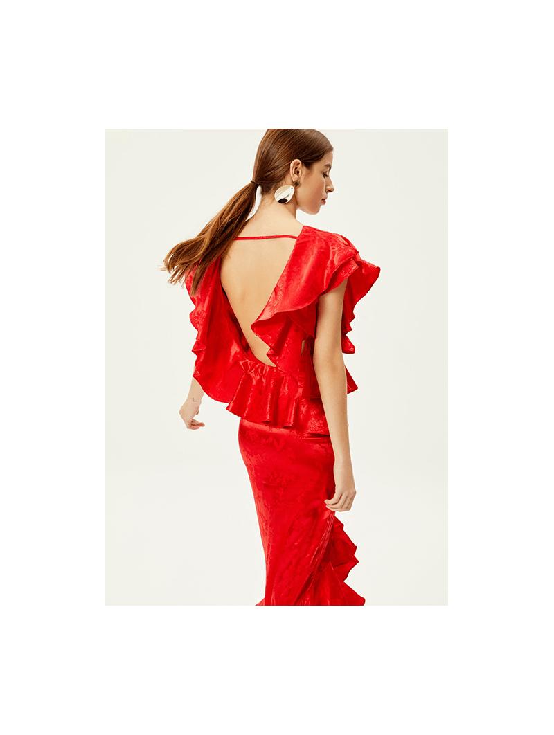 CAMPANILLA Vestido con volantes rojo – Mioh