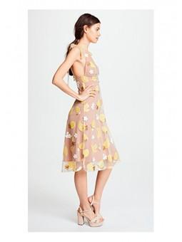 Vestido midi de lentejuelas con estampado de frutas de For Love and Lemons