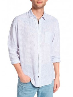 Camisa de rayas finas azules y blancas Rails