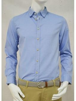 Camisa azul con detalles Koike Barcelona