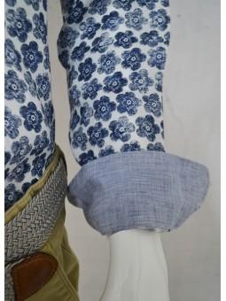 Camisa flores azules Koike Barcelona