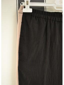 Pantalón negro con raya lateral Bellerose