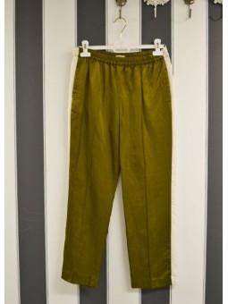 Pantalón verde con raya lateral Bellerose